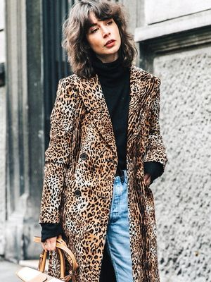 A Fashion-Forward Way to Wear an Animal-Print Coat