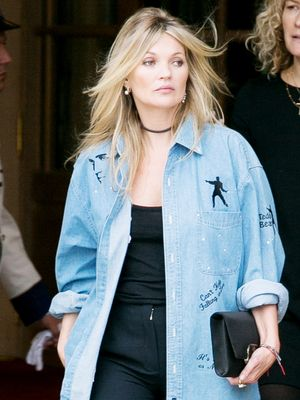 How Kate Moss Wears Fall's Biggest Denim Trend