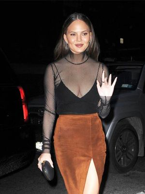 Chrissy Teigen Is the Master of Date-Night Dressing