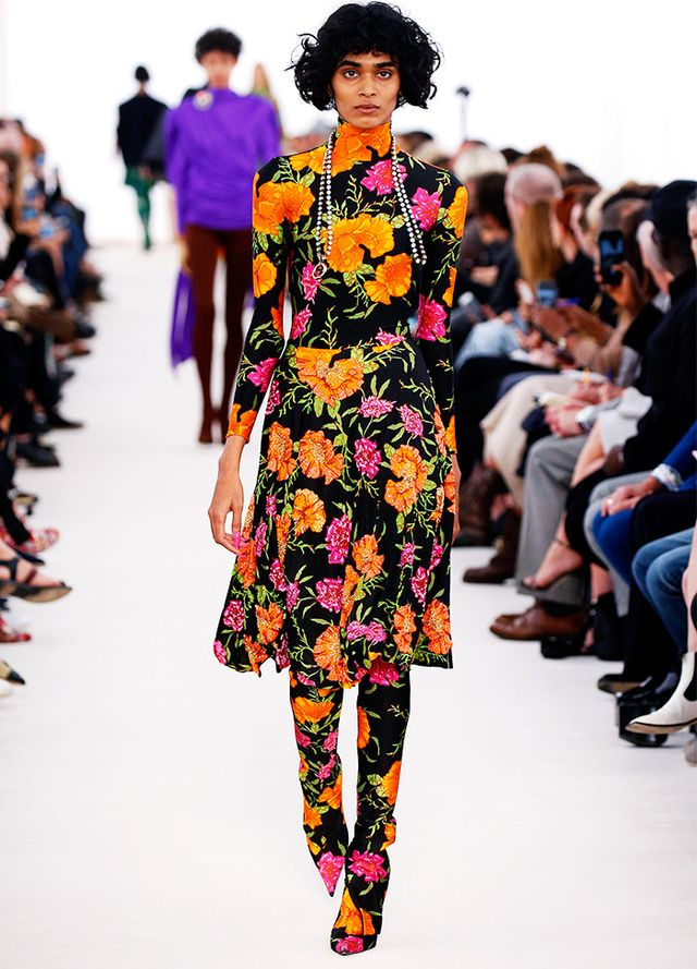 Style Notes: Almost no words can describe how photogenic and tempting this floral double-whammy from Balenciaga is.