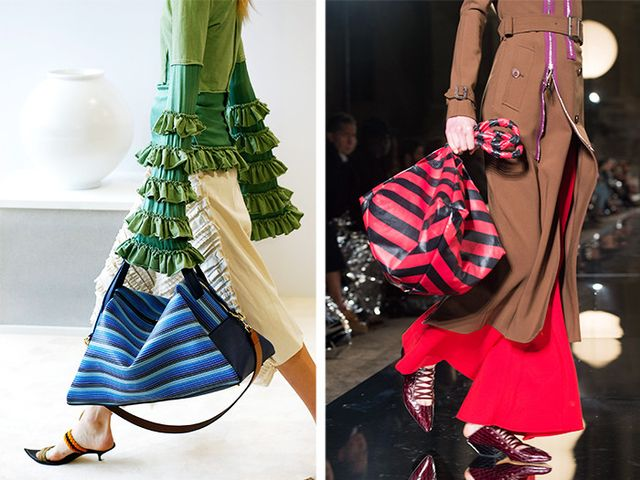 Style Notes: Loewe and Givenchy by Riccardo Tisci were certainly in on the tremendous totememo—also, is there amicrotrend for striped arm candy in here?