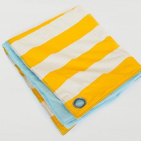 Striped Utility Blanket in Yellow