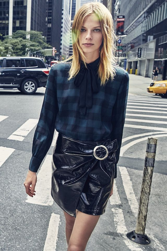 3 Über-Chic Ways to Wear a Black Patent–Leather Skirt