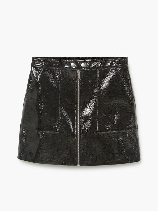 3 220 ber chic ways to wear a black patent leather skirt