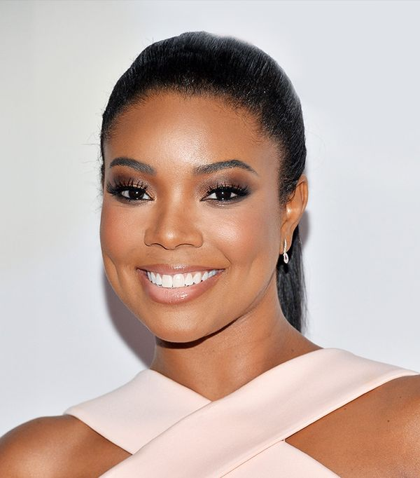 """The glowy-skinned Gabrielle Union has a less traditional hack for getting rid of dark circles and puffiness. """"I chill some tea bags—right now it's Lipton—and use them on my..."""