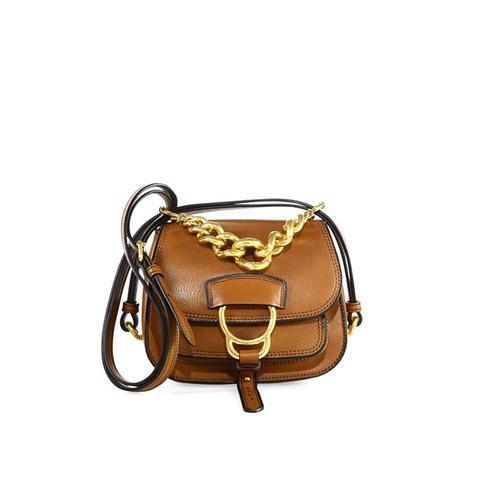 Dahlia Small Madras Leather Saddle Bag