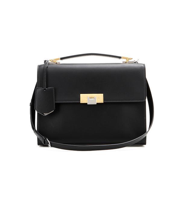 Balenciaga Le Dix Cartable S Leather Shoulder Bag