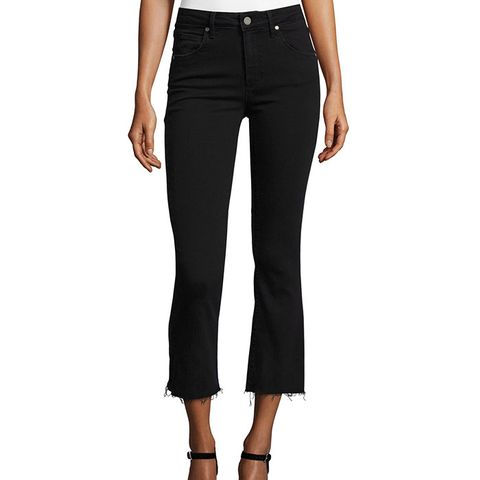 Colette Crop Flare-Leg Jeans with Raw Hem