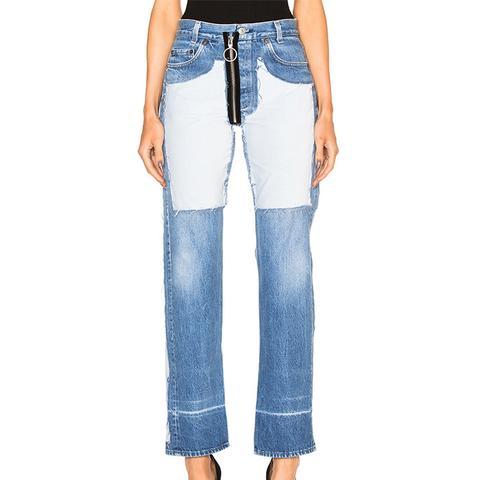 Inlay Velvet Patch Jeans