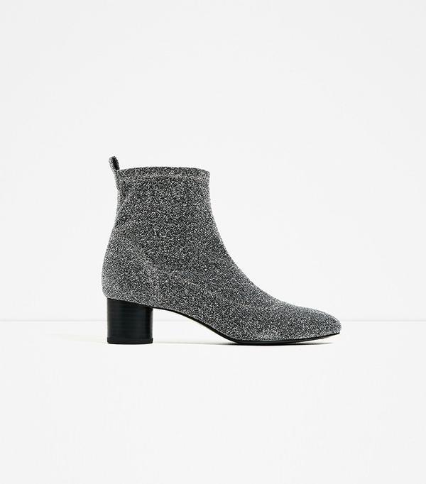 Zara Shiny Sock Ankle Boot