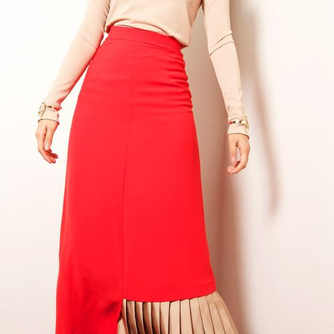 Half-Pleated Skirt