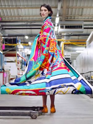Take a Glorious Tour of the Hermès Silk Scarf Factory