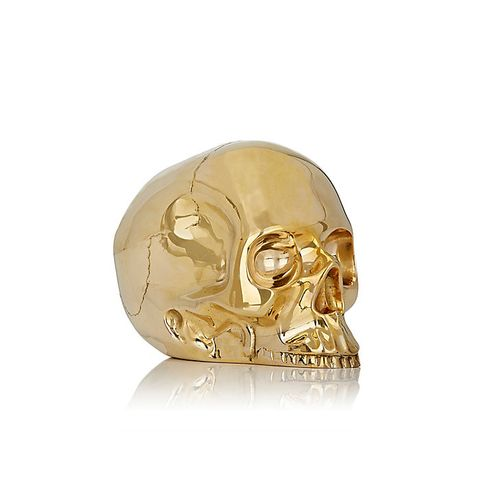 Brass Large Skull Paperweight
