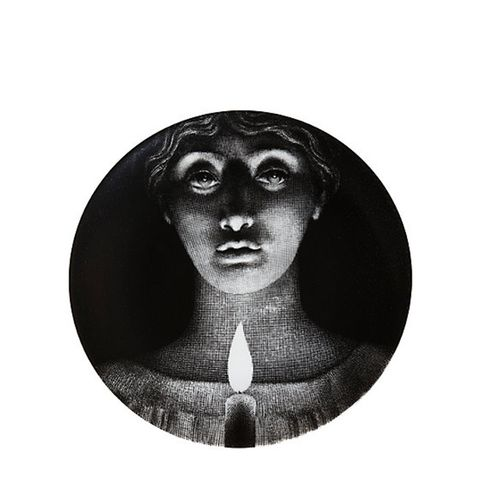 """Woman's Face With Candle"" Plate"