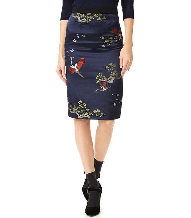 Edition10 Embroidered Skirt