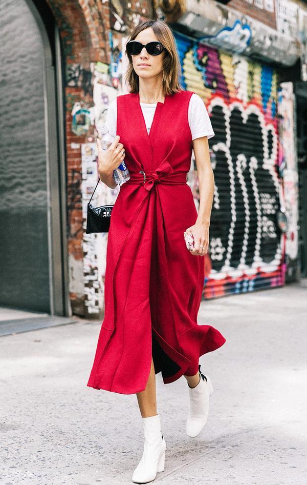 Alexa Chung at fashion week.