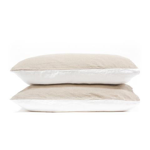Two-Tone Linen Duvet Set