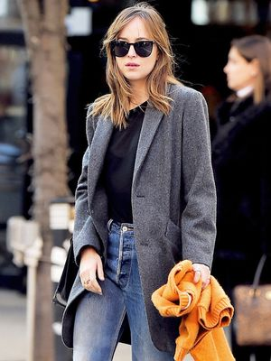 Dakota Johnson's Awesome Ankle Boots Totally Make Her Outfit
