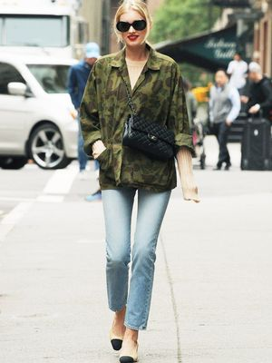 Elsa Hosk Just Mastered the Perfect Transitional Outfit