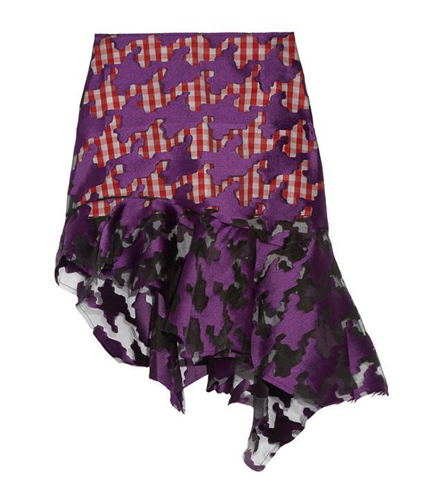 Marques' Almeida Asymmetric Ruffled Coupé Organza Skirt