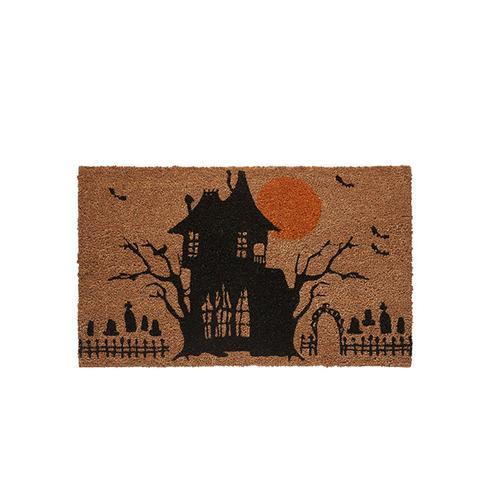 Haunted House Halloween Coir Doormat