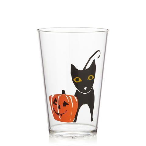 Halloween Black Cat Clear Acrylic Tumbler