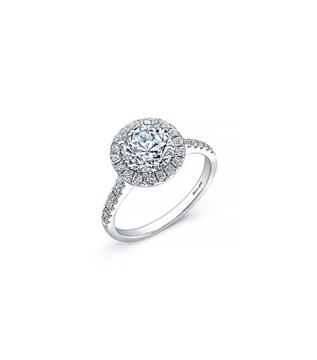 bony levy bridal pav diamond basket semi mount ring - How Much Should You Spend On A Wedding Ring