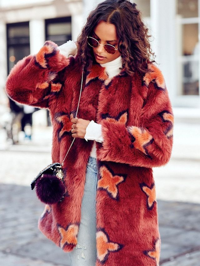 This Bold Faux-Fur Coat Look Is Not for the Faint of Heart ...