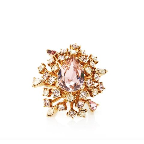 Crystal Coral Ring