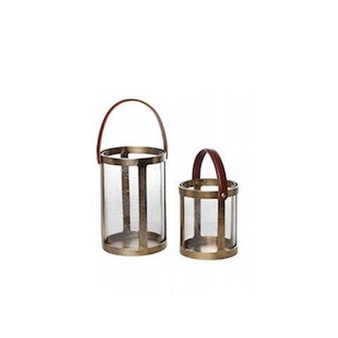 Gold & Leather Lantern
