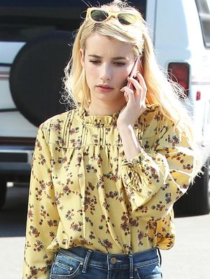 You'll Wear Emma Roberts's Pretty Top on Repeat This Fall
