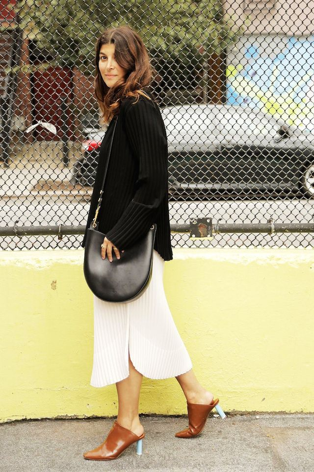 Maryam Nassir Zadeh Shows Us a Cool Way to Wear Mule Heels for Fall