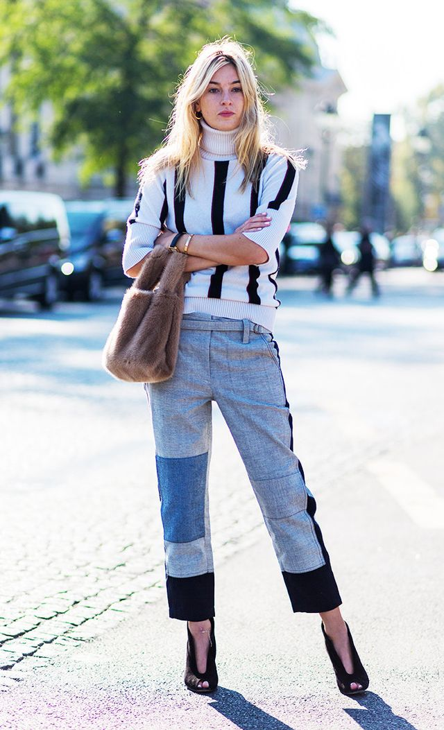 Camille Charriere outside Chanel at Paris Fashion Week
