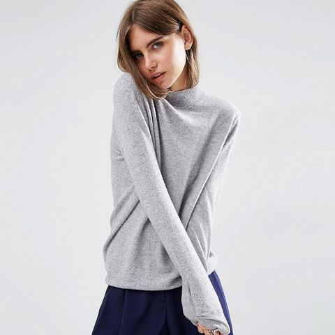 Cashmere Relaxed Funnel Neck Sweater
