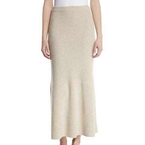 Skaton High-Waist Cashmere Maxi Skirt