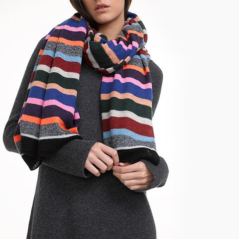 Cashmere Variegated Stripe Travel Wrap