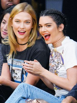 Kendall Jenner and Karlie Kloss Wore Coordinating Outfits to a Lakers Game