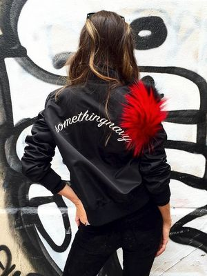 How to Wear the Personalized Bomber It Girls Are Loving