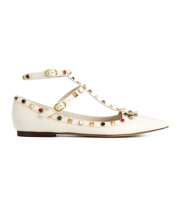 Flat bridal shoes: Valentino