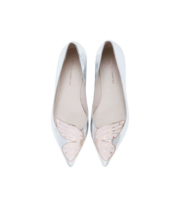 Flat bridal shoes: Sophia Webster