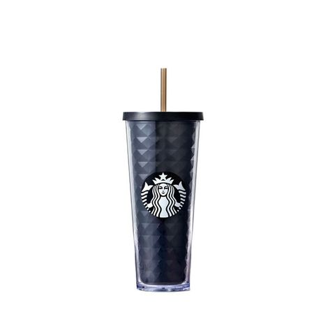 Black Faceted Cold Cup