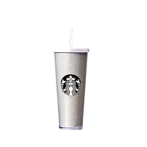 White Glitter Cold Cup