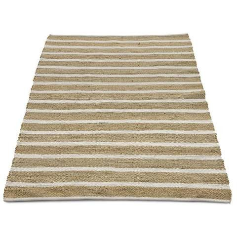 Jute Rug - White Stripe