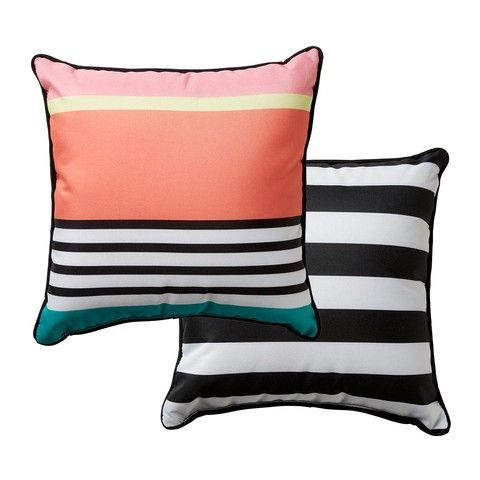 Kmart Reversible 38cm Outdoor Cushion - Stripe