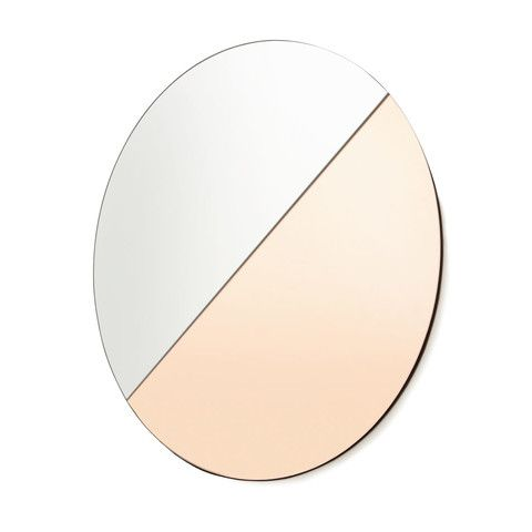 Two Tone Tinted Mirror - Rose Gold & Clear