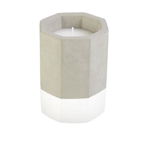 Citronella Geo Candle - White