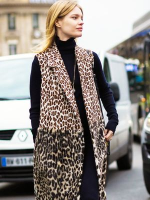 Here's How to Wear a Leopard-Print Vest for Fall