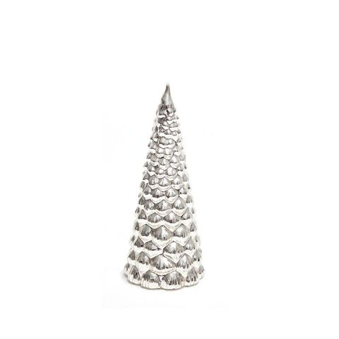 Silver-Toned Glass Tree