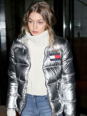Gigi Hadid Makes a Case for Metallics for Fall