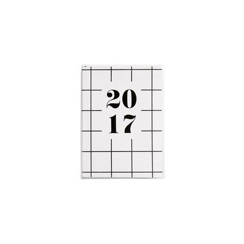 Black & White B6 Weekly Diary